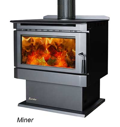 Eureka Miner free standing slow combustion wood heater